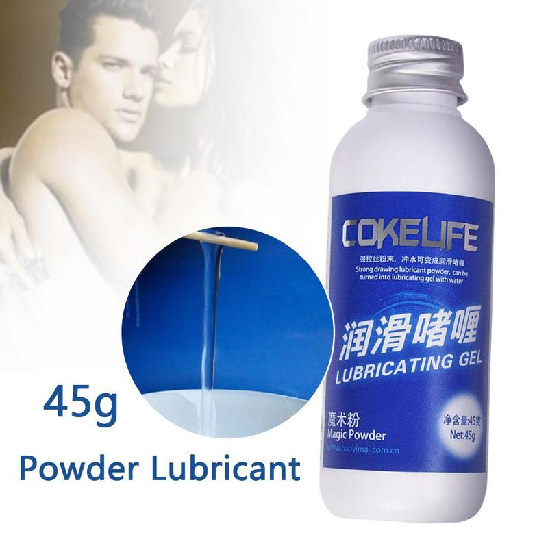 45g Magic Powder Lubricant Water Base Mixed Using with Water Oil for Vaginal Breast <font><b>Anal</b></font> <font><b>Sex</b></font> <font><b>Lubrication</b></font> <font><b>Sex</b></font> Grease image