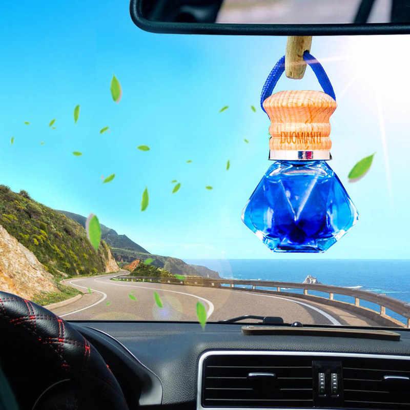 Car Air Freshener Car Perfume Bottle Essential Oil Car Diffuser  Pendant Hanging Glass Ornament Decoration Car Accessories