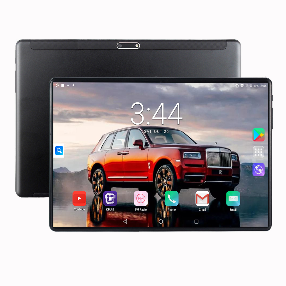 Tablet PC 10.1 Inch Android 9.0 With Google Play WiFi 3G Phone Call For Bluetooth GPS Octa Core RAM 6GB 128GB PC Tablets Tablet