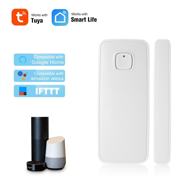 Умный WIFI датчик открывания двери/Закрытые детекторы Tuya Smart Life приложение управление работа с Alexa Google Home IFTTT