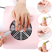 40W Nail Zuig Dust Collector Fan Sterke Nail Stofzuiger Manicure Machine met 2 Dust Verzamelen Tassen Salon Nail tool(China)