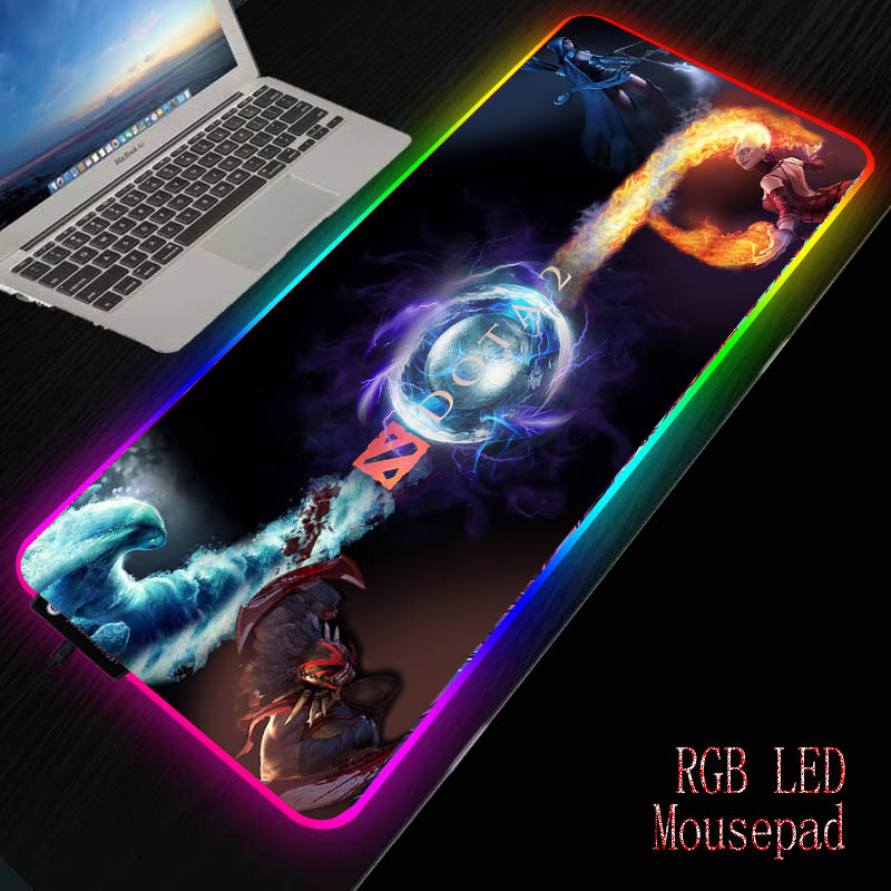 MRGBEST Computer Gaming <font><b>Mouse</b></font> <font><b>Pad</b></font> Gamer Mause <font><b>Pad</b></font> <font><b>Large</b></font> <font><b>Mouse</b></font> Mat RGB <font><b>Mouse</b></font> <font><b>Pad</b></font> <font><b>XXL</b></font> Backlit Mat Desk with Backlight for DOTA image