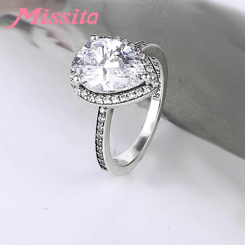 MISSITA 2019 น้ำใหม่ AAA Zircon แหวนนิ้วสำหรับผู้หญิง Fit Pan หมั้นเครื่องประดับของขวัญ Dropshipping