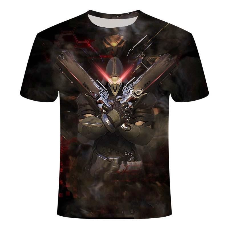 2020 Overwatch Summer Men's Fashion Game Battlefield 3D Digital Printing Casual T-Shirt Oversize Short Sleeve Top 2