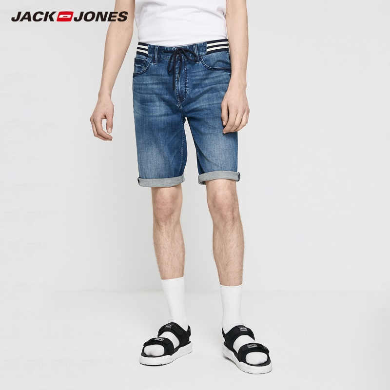 JackJones Men's Slim Stretch Denim Shorts|Streetwear 219243507