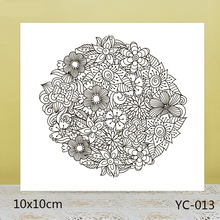 ZhuoAng A mass of flowers Transparent seal / sealed DIY scrapbook album decoration card seamless