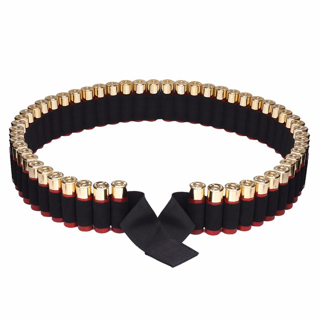 56 Rounds Shell Holder Tactical 150*5CM 12 Gauge Ammo Belt Military Airsoft Shotgun Ammo Bullet Pouch Hunting Accessories 2
