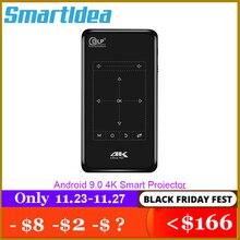 Smartldea 4K Mini Proyector móvil Android 9,0, BT4.1 Proyector portátil HD Beamer batería de 5000mAh teclas táctiles Airplay Miracast
