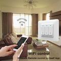 Wi-Fi, умный светильник настенный выключатель розетка кнопка для GoogleHome Alexa Голосовое управление Беспроводной дистанционного Управление стан...