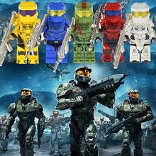 Game Anime Figure Halo Warrior Army Sub-Zero Johnny Cage Ermac Jonesy Voltron Robot Technic Building Blocks Stranger Things Toys(China)