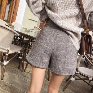 Image 2 - Mishow 2019 Spring Office Lady Shorts Skirts fashion Female Plaid Slim casual button Mini shorts MX18D2451