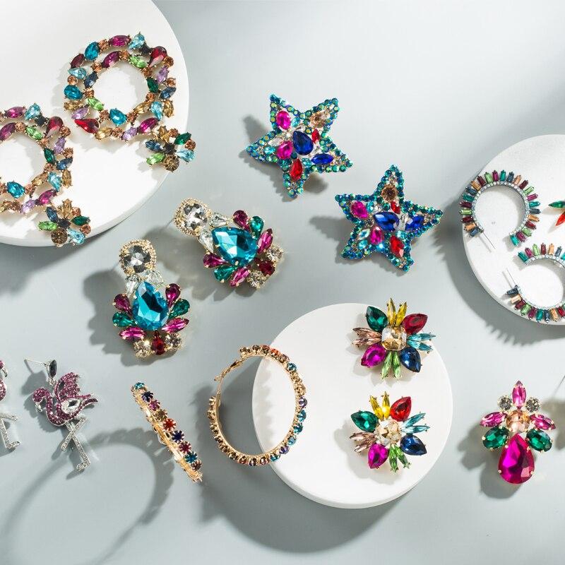 2019 разноцветные акриловые серьги, модные ретро серьги, женские вечерние ничные серьги, ювелирные изделия