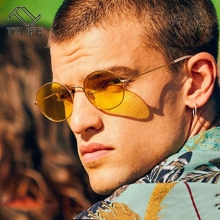TTLIFE Vintage Men Sunglasses Women Retro Punk Style Round Metal Frame Colorful Lens Sun Glasses Fashion Eyewear Gafas YJHH0336