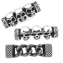 Skull Jewelry Connector Beads for Jewelry Making Bracelet Connectors Stainless Steel Jewelry Findings Handmade DIY Accessories