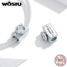 2020 été vacances série Wostu 925 argent Sterling breloque & perle pour Original Bracelet bleu appareil photo pour les femmes bijoux FNC264