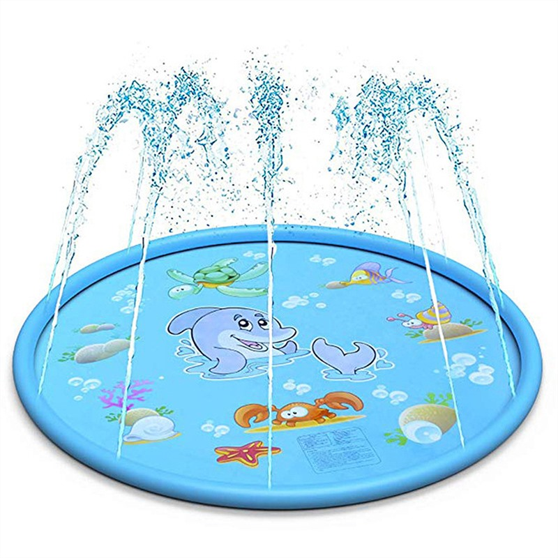 170cm Summer Children's Outdoor Play Water Spray Games Beach Mat Lawn Inflatable Sprinkler Cushion Toys Cushion Gift Kids Baby 3