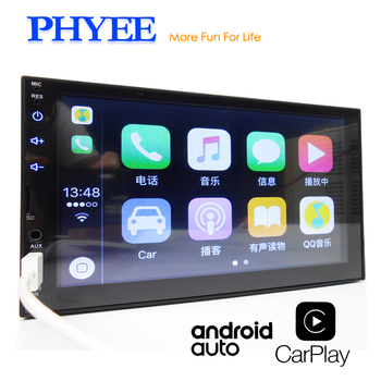 "2 Din Apple Carplay Autoradio Bluetooth Android Auto 7 ""Touchscreen Video MP5 Spieler USB TF ISO Stereo System Head Unit PHYEE X2"