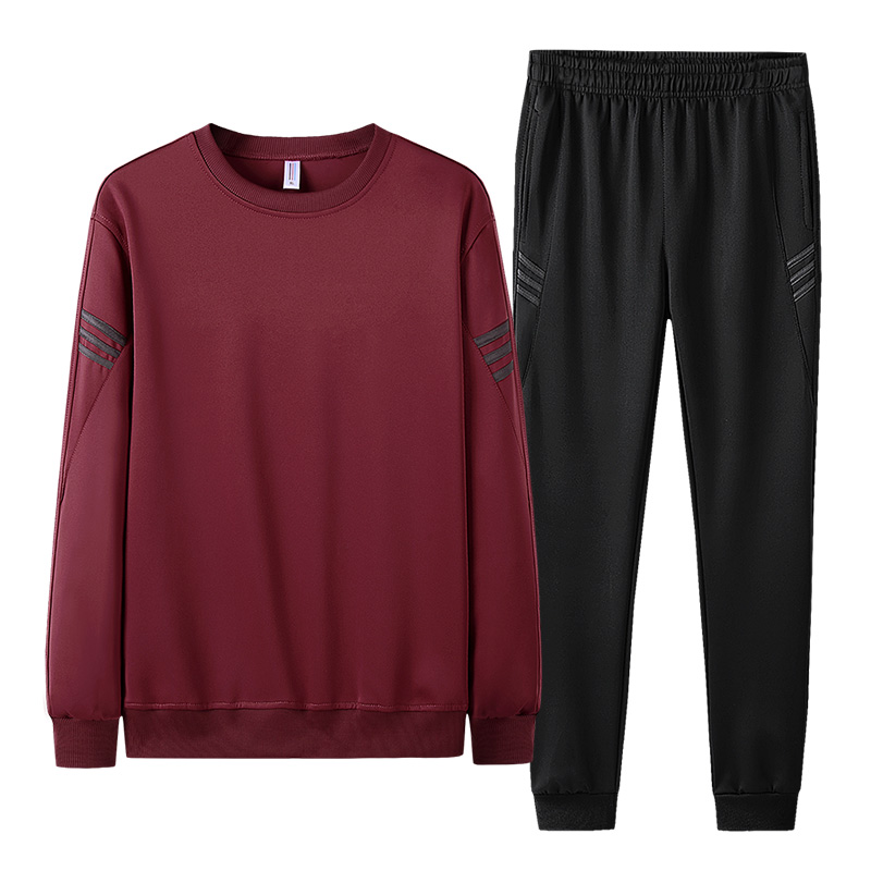 AIOPESON 2019 Autumn Tracksuit Men Fashion Casual Sportswear Slim Fit O-Neck Hoodies + Jogger Pants Men Sweat Suits 20