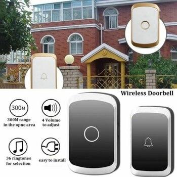 цена на Wireless Doorbell Waterproof 300M Remote EU AU UK US Plug Smart Door Bell Home Security Wireless Doorbell