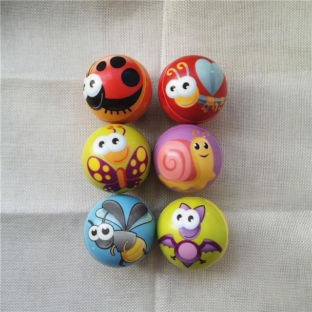 6PCS/lot 6.3cm Squeeze Anti Stress Balls Bee Butterfly Snail Cartoon Insects Animals Balls PU Foam Balls Toys for Kids Children
