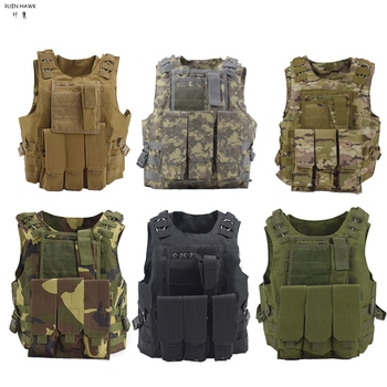 Tactical Vest Military Combat Armor Vest Mens Army Airsoft Hunting Vest Adjustable Outdoor CS Paintball Training Protective Vest protective vest for cs wargame 4 colors tactical vest military equipment airsoft hunting vest training paintball airsoft combat