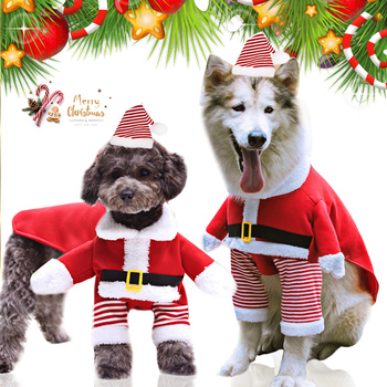XS-7XL Christmas Dog Clothes For Small Large Dogs Pet Cat Costume Santa Claus Costume Funny Winter Dog Coat Warm Cat Jacket 35 image