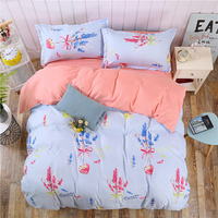 Thumbedding Lavender Bedding Set King Simple Sweet Girls Duvet Cover King Size Queen Full Twin Single Unique Design Bed Set