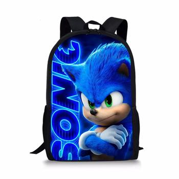 HALYUNASC Cool Backpack Sonic Pattern Kids School Bags Cartoon The Hedgehog Design Boys and Girls Mochila Book Bags haoyun children s school backpack vampirina prints pattern kids backpack cartoon design toddler boys girls school book bags
