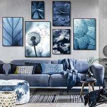 Серо синее растение крупный план фотография Настенная картина