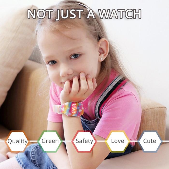 Новинка световой единорог ребенок часы для девочки океан мир светодиод часы дети студент электроника часы часы Reloj Infantil