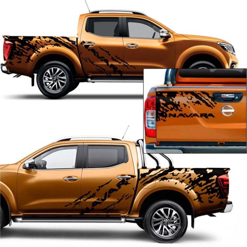 3 Pcs mudslinger side door tail door stripe graphic Vinyl  car sticker fit for NISSAN NAVARA NP300 2014 2019|Car Stickers| |  - title=