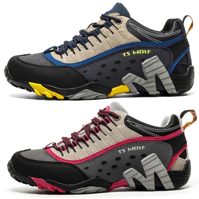 На открытом воздухе Lover треккинговые ботинки для мужчин Водонепроницаемый треккинговые ботинки Горные ботинки из натуральной кожи, Лесной ...