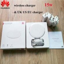 Original huawei p30 40 pro 15w carregador sem fio adaptador de carga rápida tipo c cabo para companheiro 20 rs 30 pro iphone x 8 plus xs max