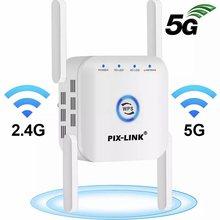 Nowy 2.4G wi fi 300Mbps 5G 1200Mbps wzmacniacz sygnału WiFi WPS szyfrowanie Extender wysokiej temperatury rozpraszanie wzmacniacz sygnału Router Booster
