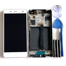 """5.0 """"המקורי M & סן עבור Xiaomi Mi 4 Mi4 LCD תצוגת מסך + מסגרת + לוח מגע Digitizer לxiaomi 4 2014215 תצוגה"""