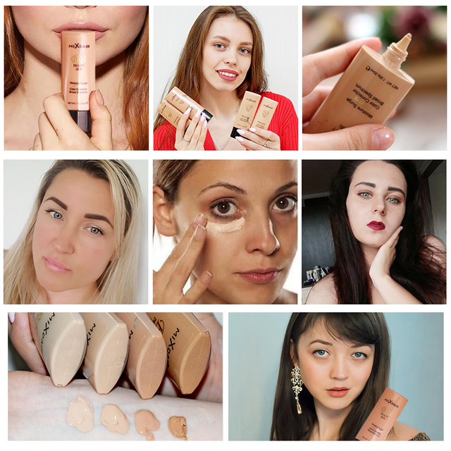 MIXDAIR Liquid Foundation Face Concealer 4 Colors Magical Makeup Base Primer BB Cream Full Cover Dark Eye Circle Hide Blemish 5