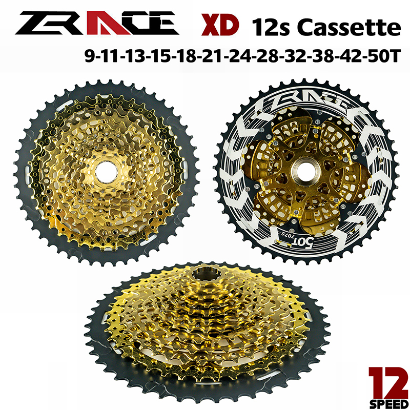 Zrace alpha gold 12s xd cassete 12 velocidade mtb bicicleta roda livre 9-50 t-preto, compatível sram xd freehub, x01 gx nx eagle