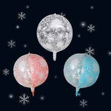 1/3Pcs 22Inch Thick Christmas Snowflake Transparent Latex Balloons Birthday Theme Party Wedding Decorations Baby Shower Toys 22inch 4d pvc christmas snowflake balloons helium balloon frozen snowflake transparent toy the snow birthday theme xmas new year
