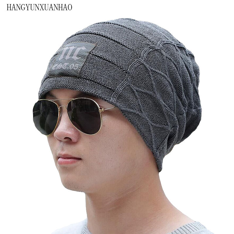 2019 Stylish Skullies Beanies Winter Hats Man Thick Warm Winter Hat Male Thick Hat Beanies Cap Men's Winter Caps Toucas Gorros