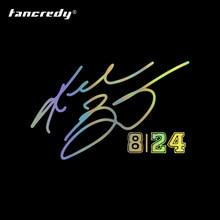 Kobe assinatura n° 8 e n° 24 letras do automóvel carro adesivos e decalques de vinil para o estilo do carro janela porta pára-choques decorações