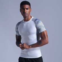 New compression men's slim t-shirts gyms fitness weightlifting t shirt male summer casual jogger workout t tops brand clothing new workout clothes cotton rise gyms t shirts mens short sleeve t shirt muscle gyms fitness clothing bodybuilding tops camisetas