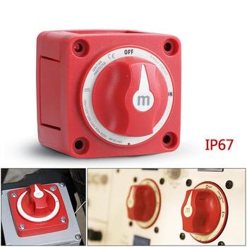 Miniinterruptor de batería On-Off de 2 posiciones Serie M, aislador, desconexión rotativa, 12-48V, 300A, barco marino individual 1