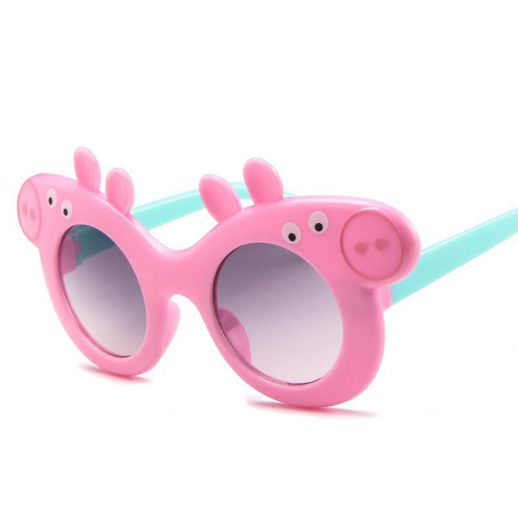 2020 New Fashion Children Toddler Sunglasses Boys Girls Kids Baby Safety Sun Glasses UV400 Cute Cartoon Piggy Sunglasses
