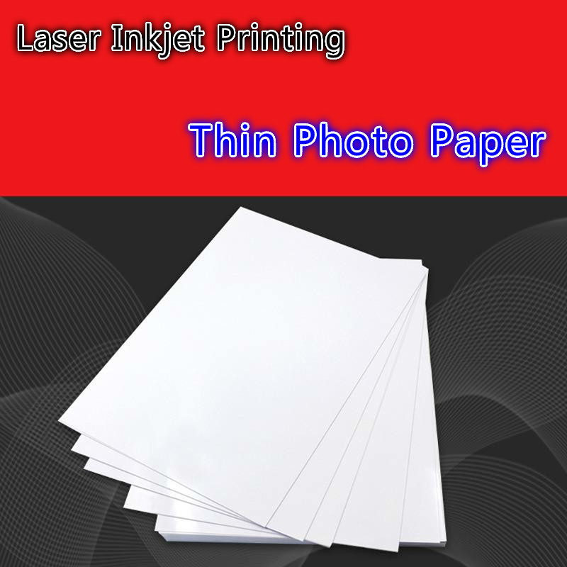 200 Sheets Glossy 90G 115G 135G 160G A4 A3 Printing 4x6 Dry Photo Paper For Magnetic Photographic Inkjet Printer Paper Supplies