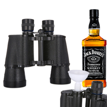 2PCs Creative Flask Binoculars Plastic 16Oz Travel Hip Flasks Portable Outdoor Water Bottle Whisky Pot Bracelet DIY Drinkware