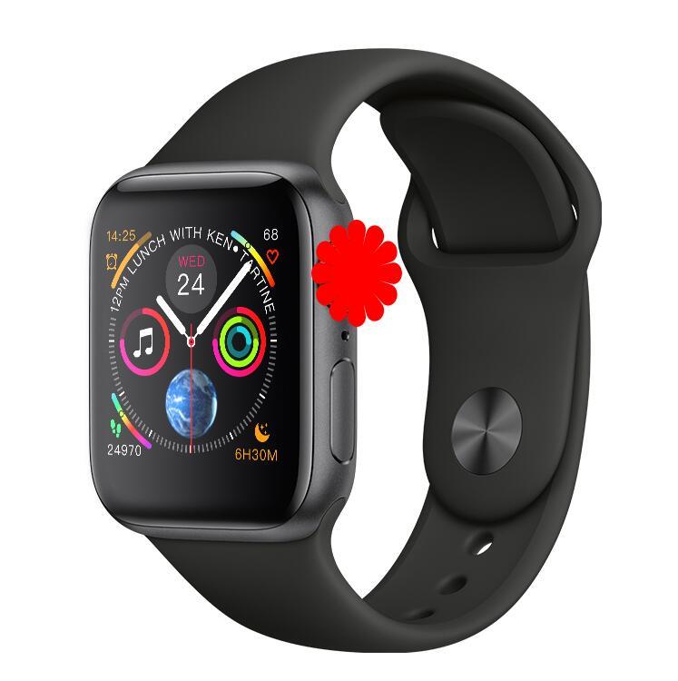 IWO 8plus montre intelligente 44MM Bluetooth Smartwatch série 4 SIRI pour Samsung Xiaomi Huawei ios Apple iphone 5 6 7 8 X XS MAX XR