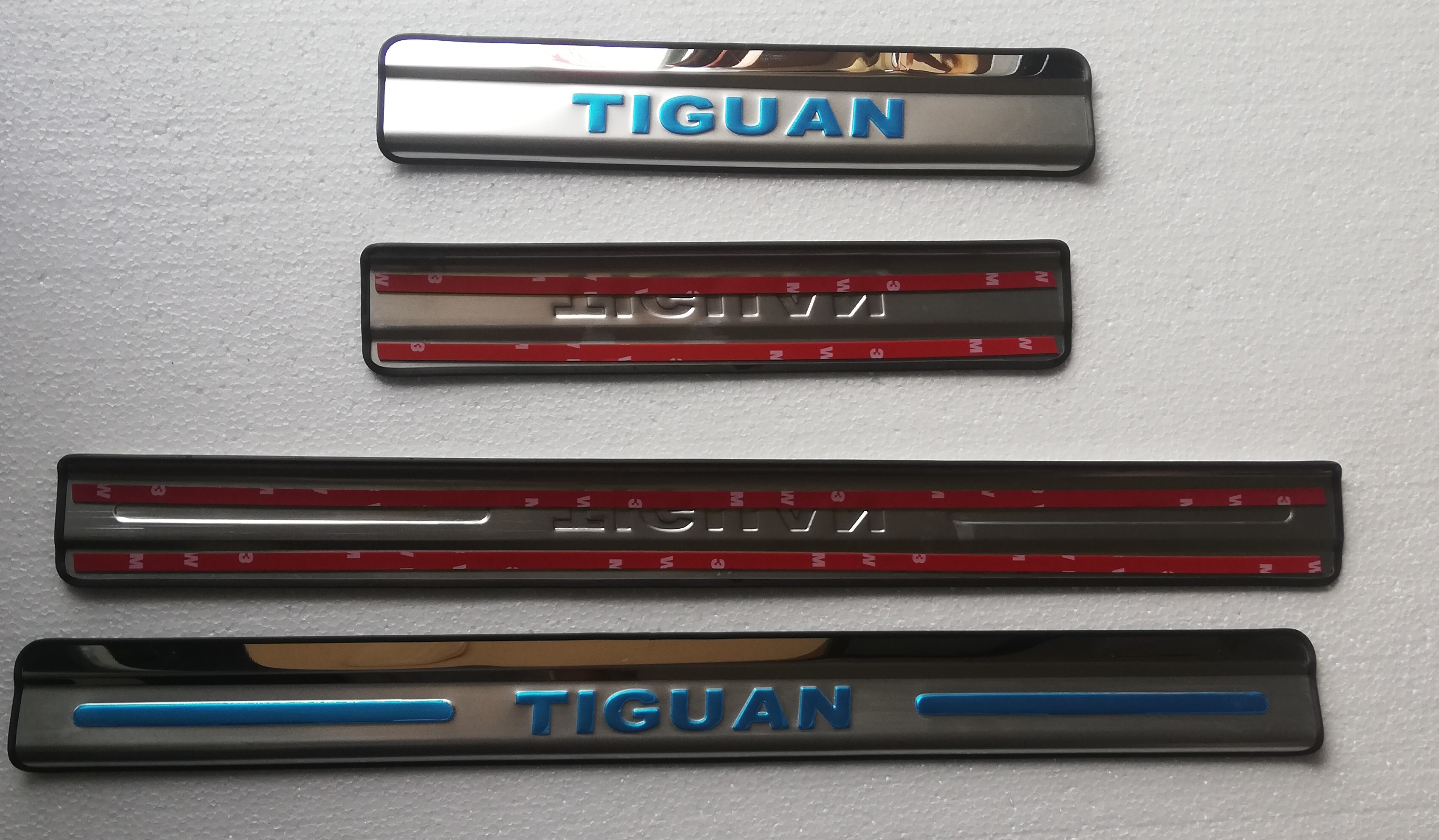 Stainless Steel Mirror Door Sill / Scuff Plate / Threshold 4pcs/set for Volkswagen <font><b>TIGUAN</b></font> 2007 -<font><b>2019</b></font> Car styling image
