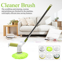 110cm Telescopic Car Wash Brush Rechargeable Cleaning Mop Cleaner Brush Set for Automotive Polishing Tool 220V 60W