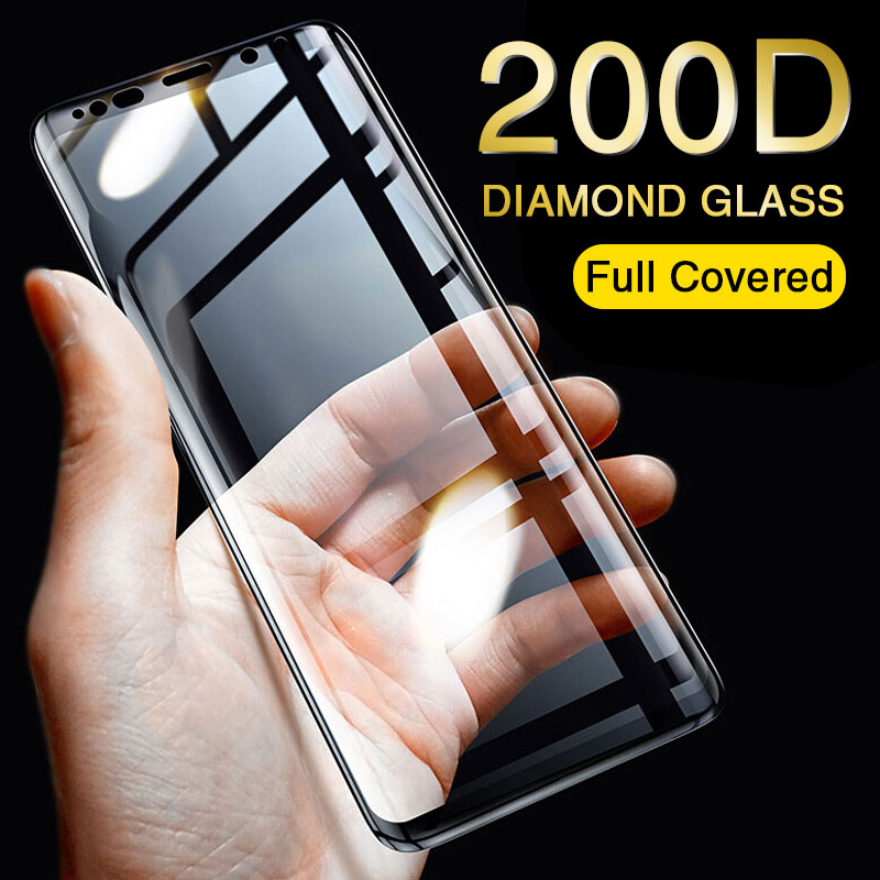 200D Tempered Glass On For Samsung Galaxy S8 S9 Plus S6 S7 Edge Note 8 9 Screen Protector J4 J6 J8 Plus 2018 Protective Glass