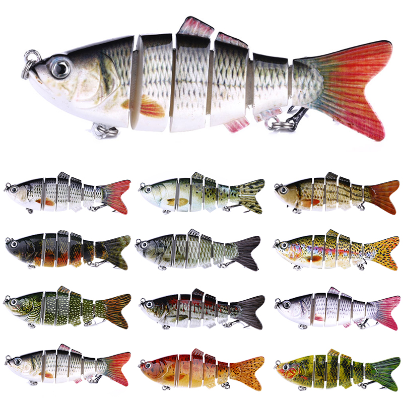 10cm 18g Fishing Lure Lifelike 6 Jointed Sections Swimbait  Isca Artificial Hard Bait Crankbait Wobblers
